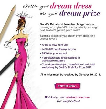DavidsBridal and @SeventeenMag Prom Dress Sketch Contest - HEYDOYOU ...