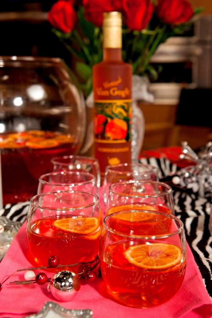 Pomagrenade Punch 682x1024 Entertaining Tips from Nadia G and @VanGoghVodka