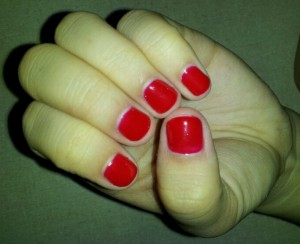 Shellac manicure for short nails