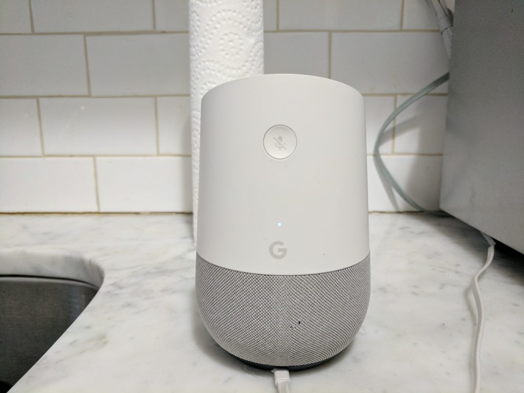 Back of Google Home.